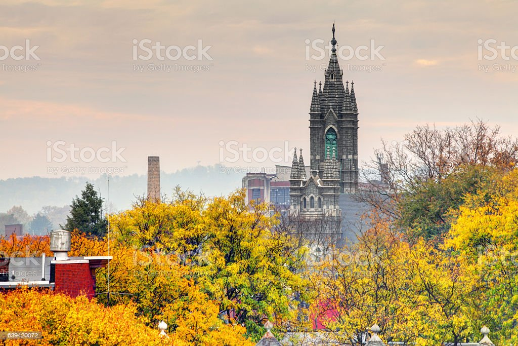 Autumn in Reading, Pennsylvania stock photo