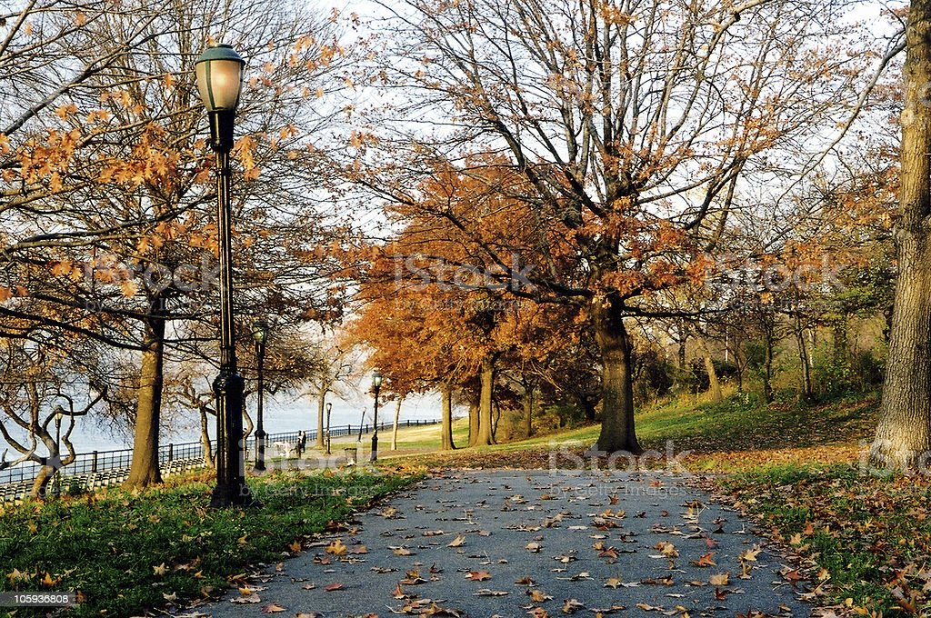 Autumn in Riverside park stock photo