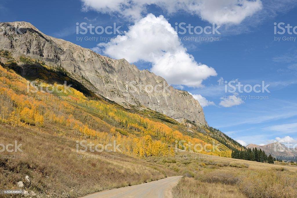 Autumn in Rockies stock photo