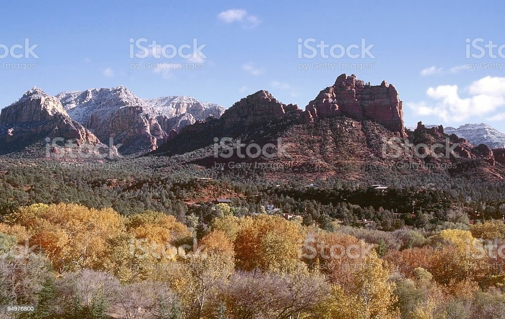 Autumn in Sedona stock photo