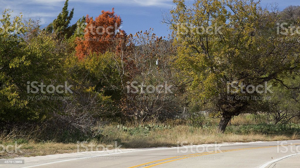 Autumn in Texas royalty-free stock photo