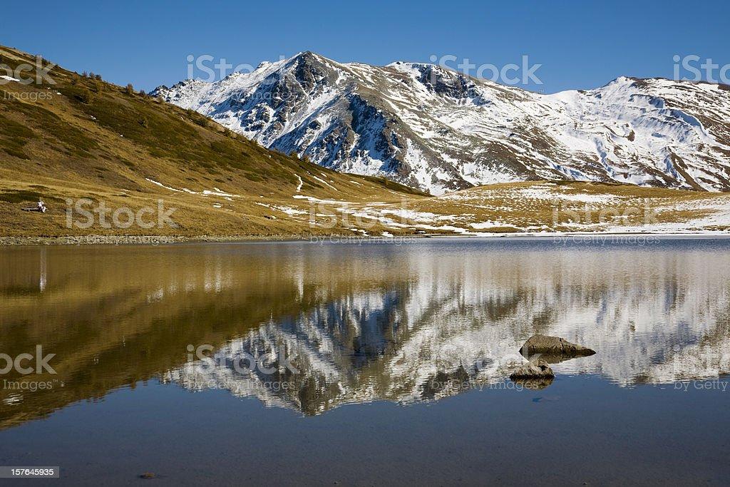 Autumn in the Alps stock photo