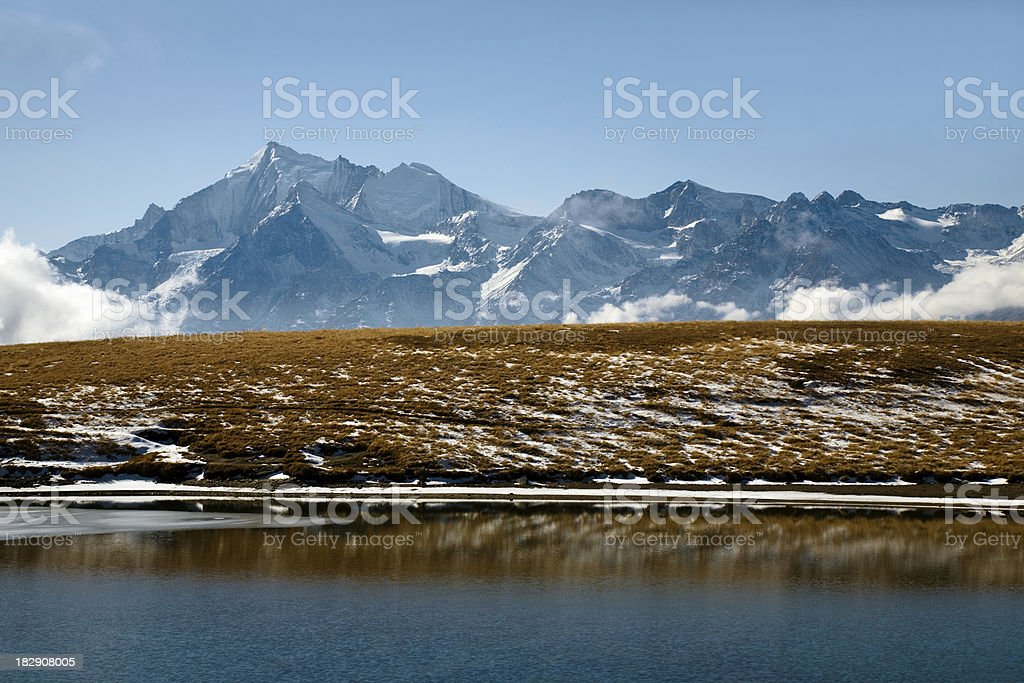 Autumn in the Alps stock photo
