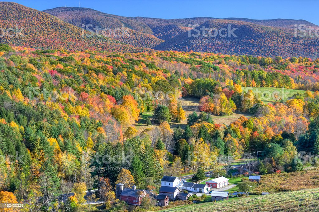 Autumn in the Berkshires stock photo