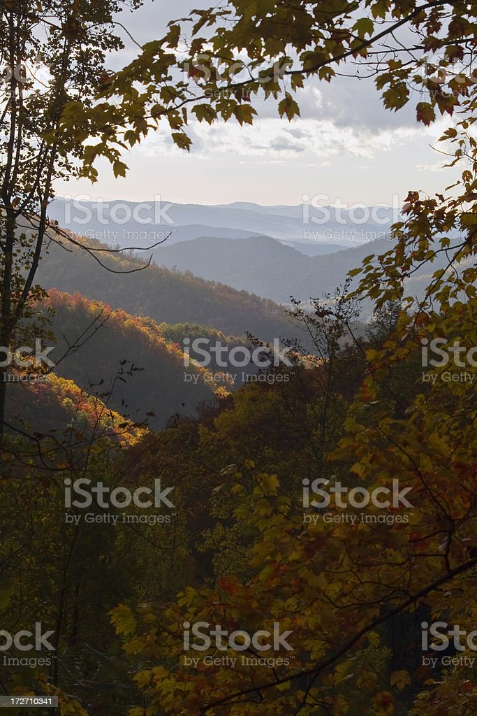 Autumn in the Blue Ridge Mountains royalty-free stock photo