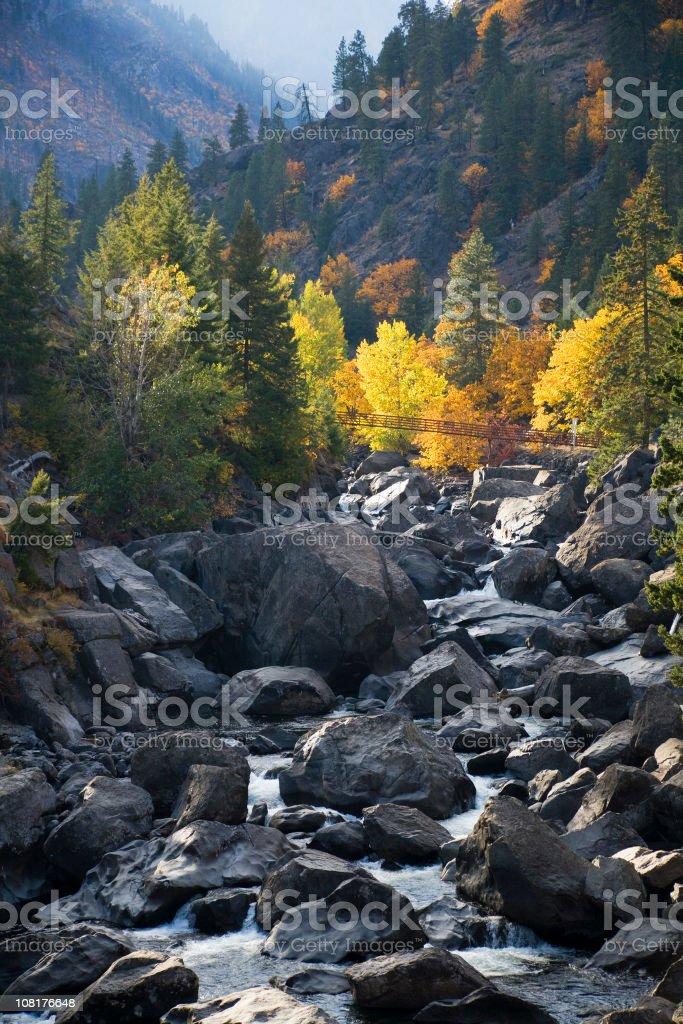 Autumn in the Cascades stock photo