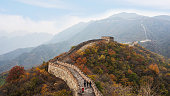 Autumn in the Great Wall of Beijing, China
