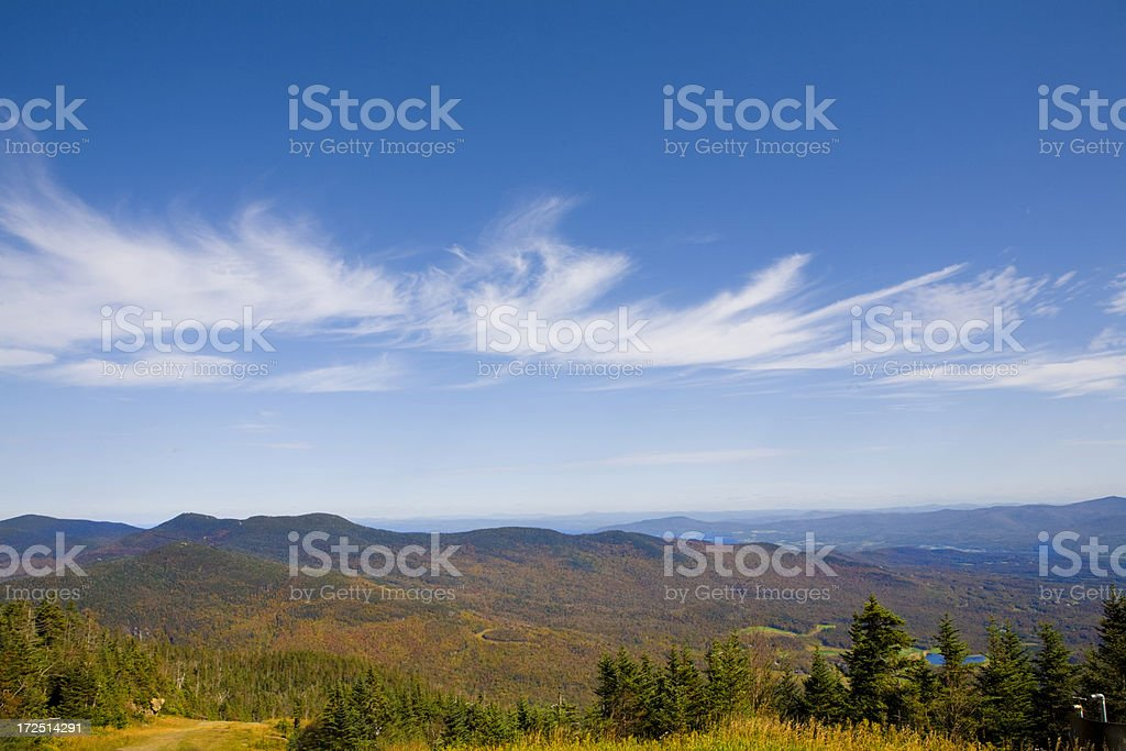 Autumn In The Green Mountains of Vermont stock photo