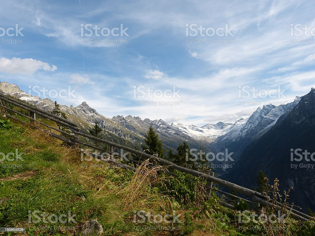 Autumn in the high mountains royalty-free stock photo
