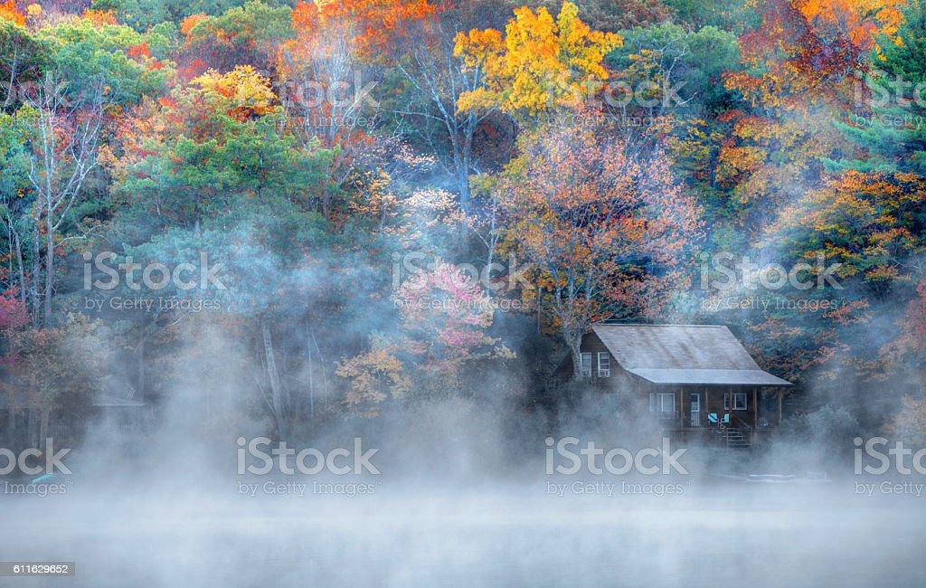 Autumn in the Litchfield Hills of Connecticut stock photo