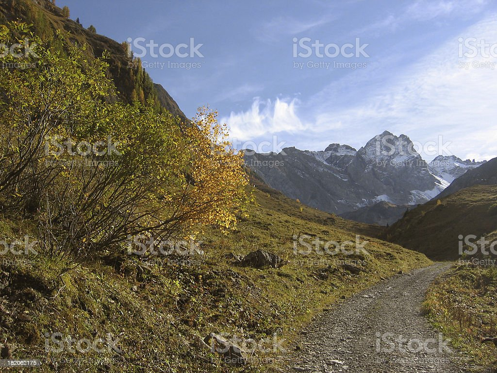 autumn in the madau valley royalty-free stock photo