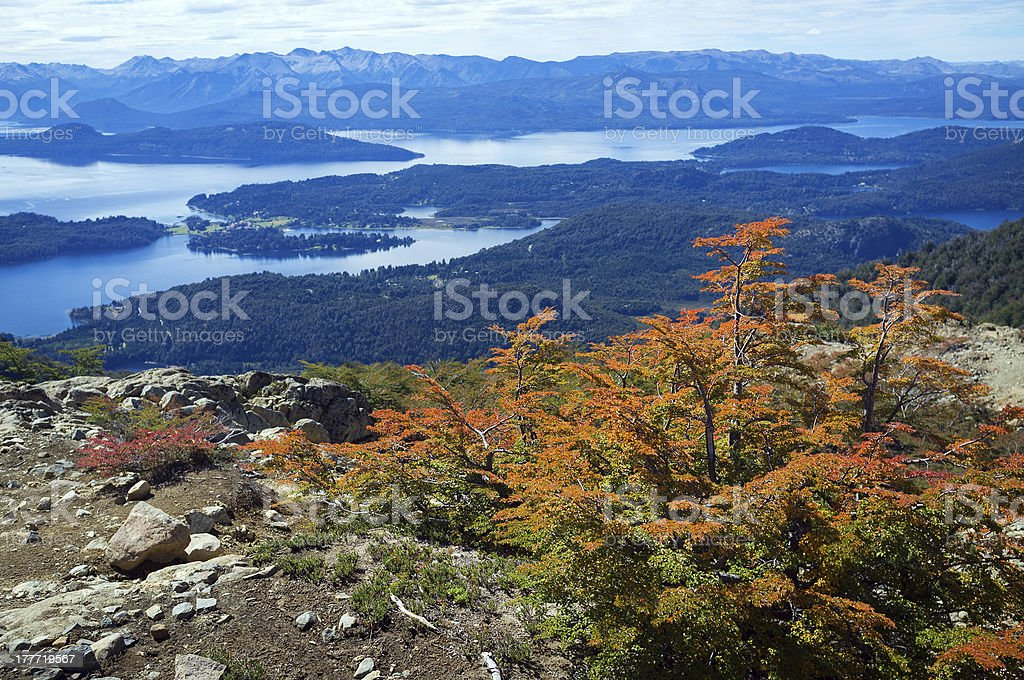 Autumn in the mountains of Patagonia royalty-free stock photo
