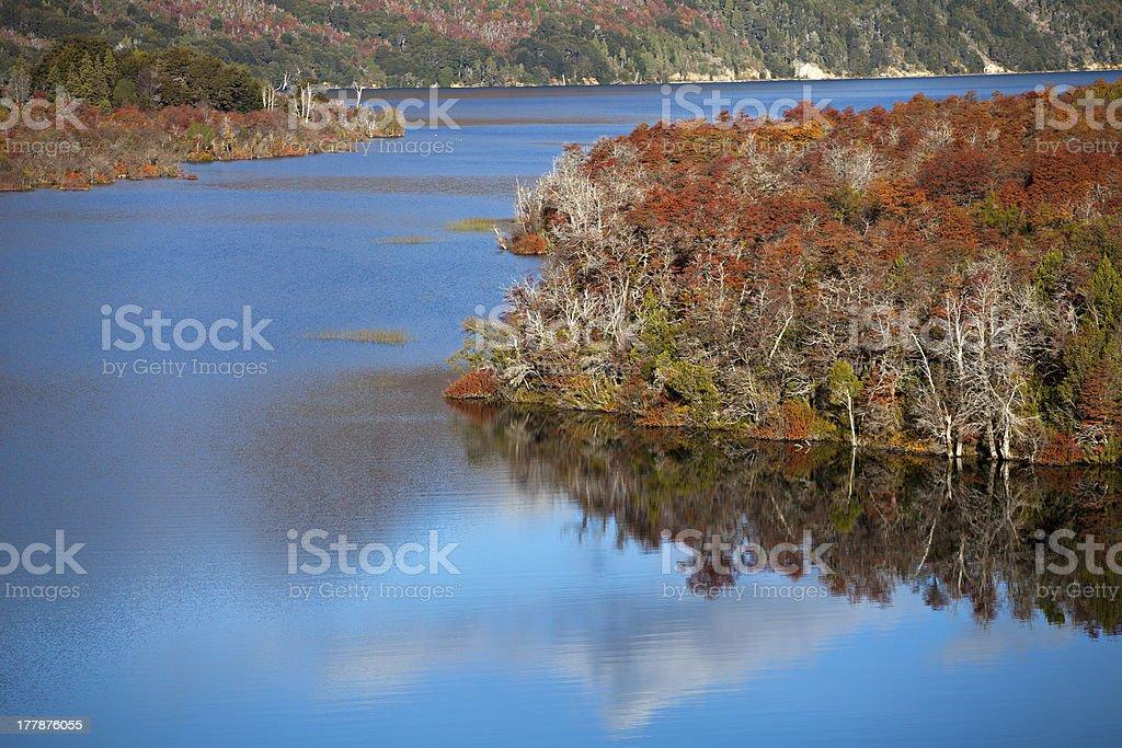 Autumn in the mountains of Patagonia royalty-free stock photo