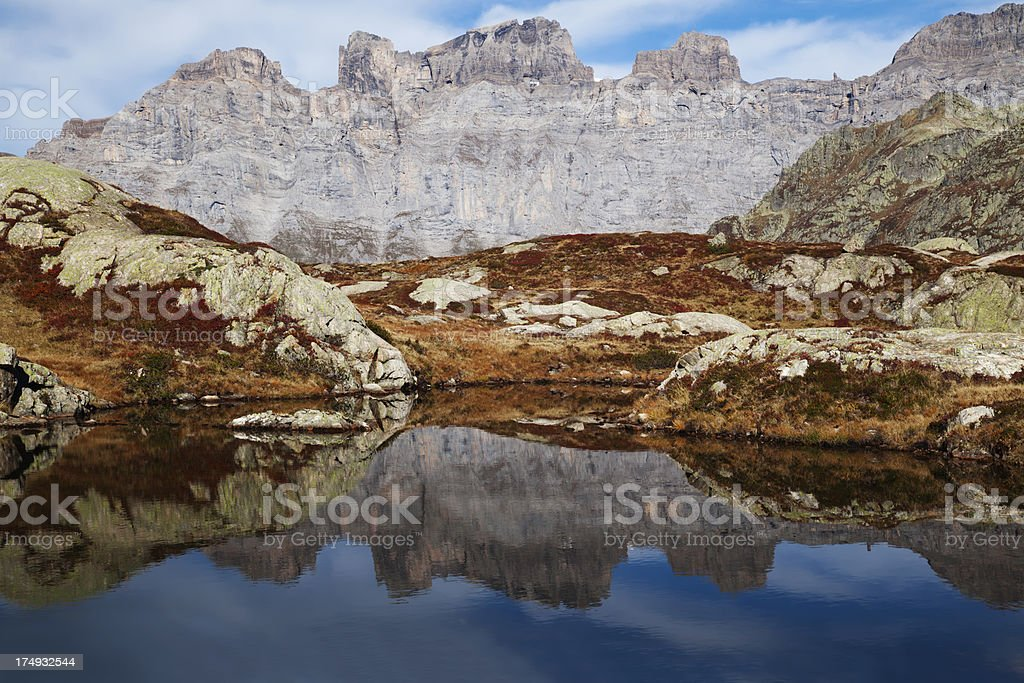 Autumn in the mountains royalty-free stock photo