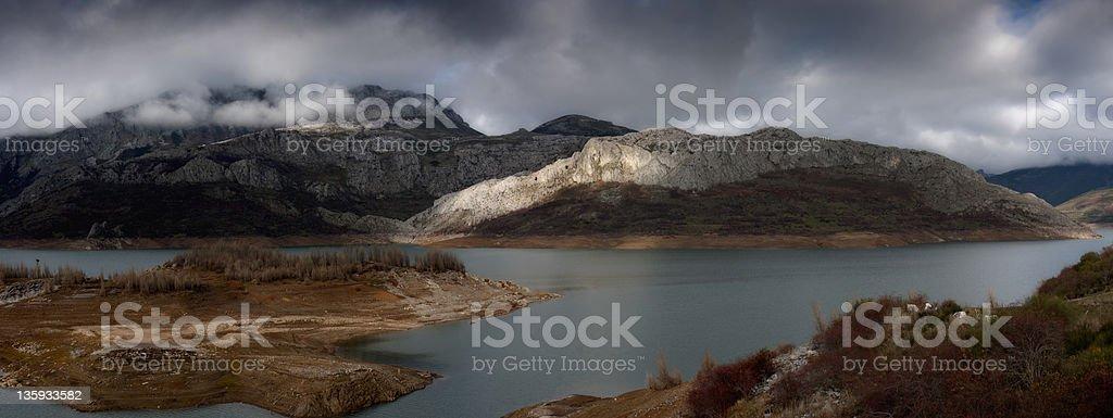 Autumn in the Picos de Europa (Leon,Spain) stock photo