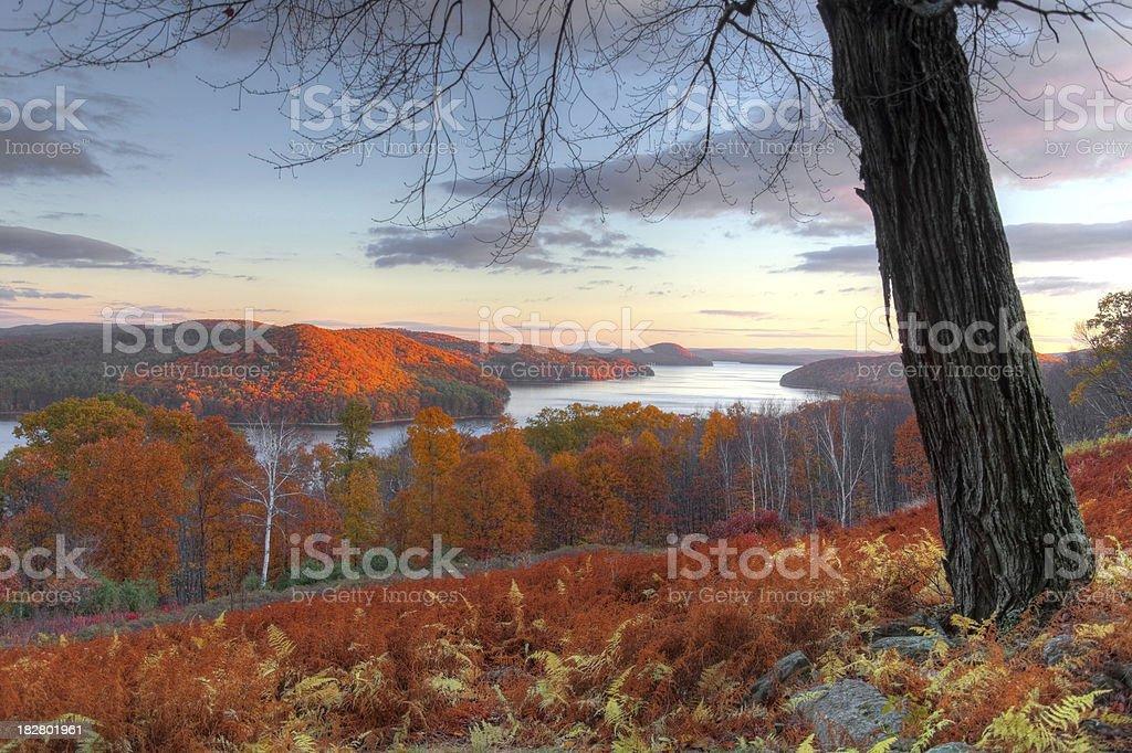 Autumn in the Quabbin Region of Massachusetts stock photo