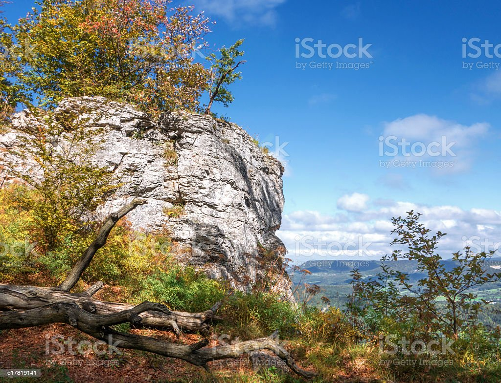 Autumn in the Swabian Alps royalty-free stock photo