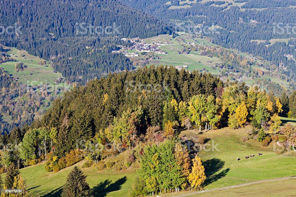 Autumn in the Swiss Alps stock photo