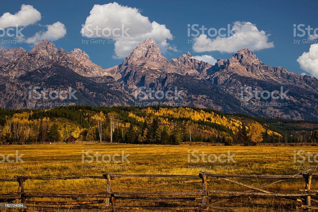 Autumn in the Tetons stock photo