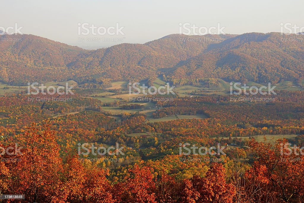 Autumn In The Valley royalty-free stock photo
