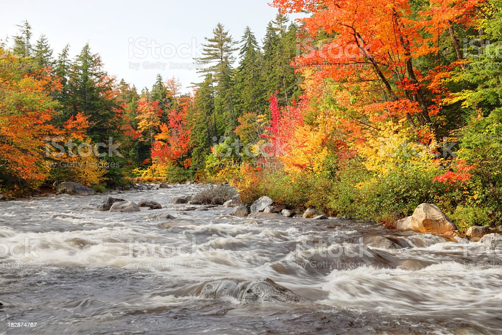 Autumn in the White Mountains National Forest New Hampshire royalty-free stock photo