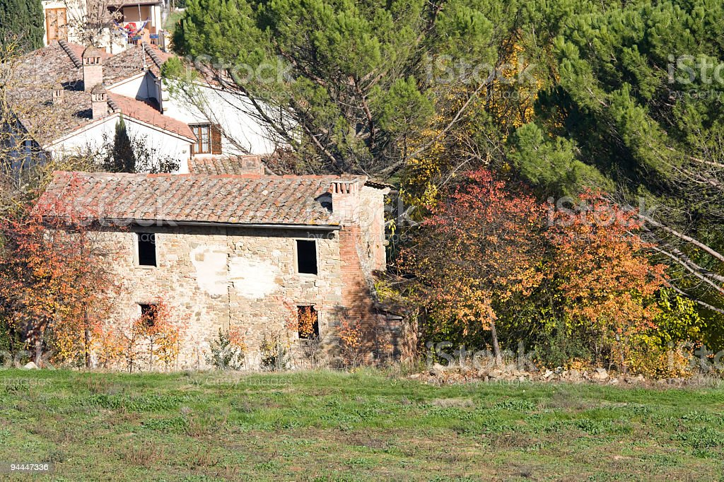Autumn in  Tuscany royalty-free stock photo
