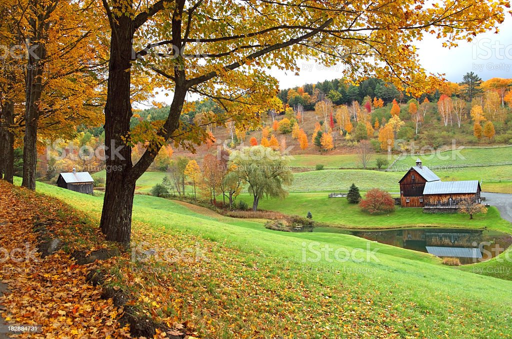 Autumn in Vermont stock photo
