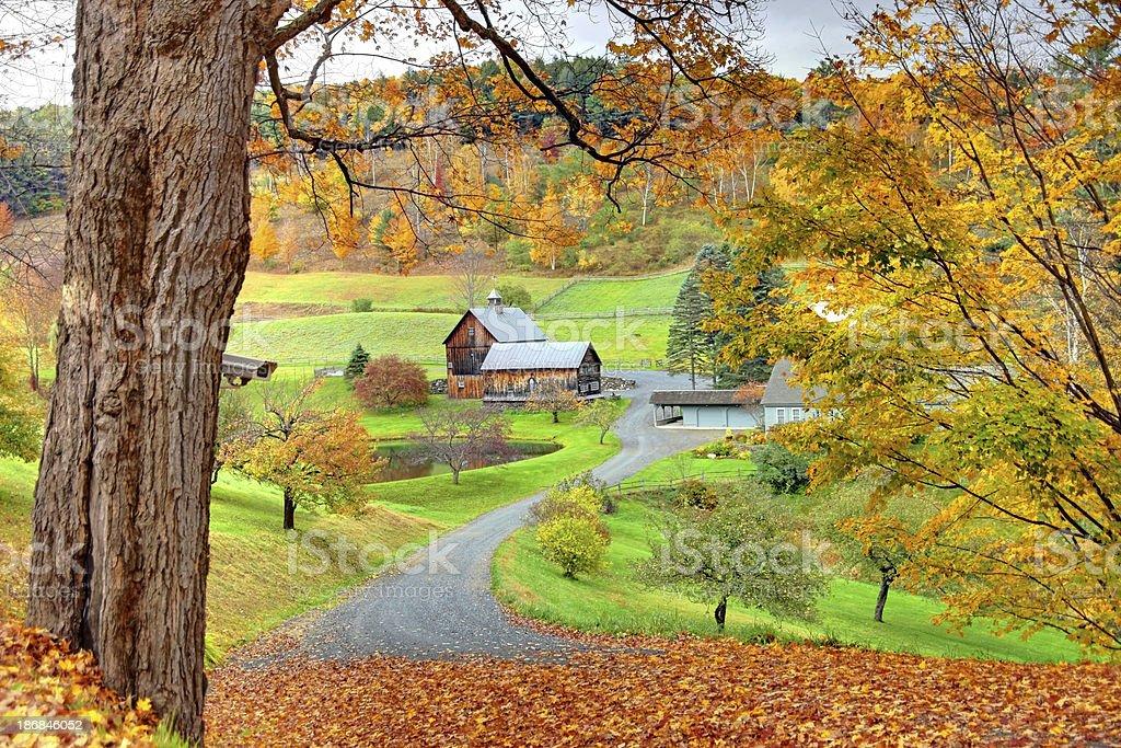 Autumn in Vermont stock photo