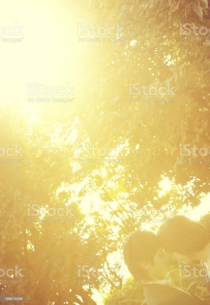 Autumn Japanese Couple stock photo