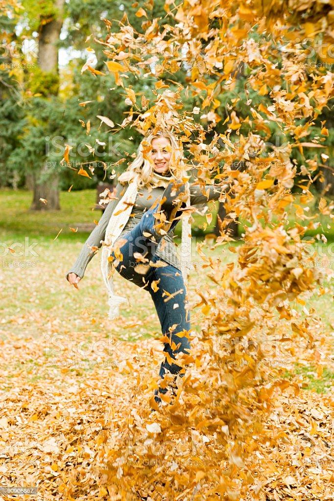 Autumn Joy royalty-free stock photo