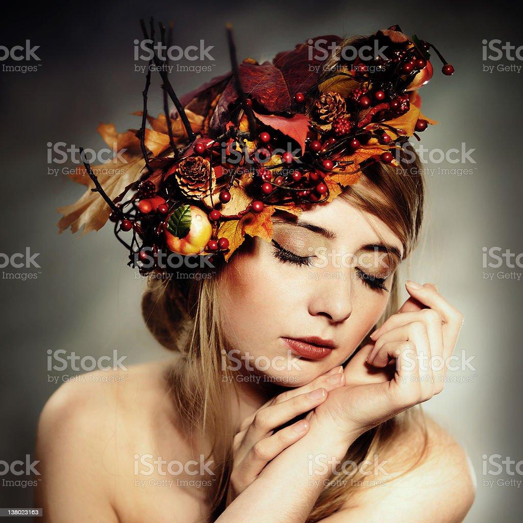 Autumn lady royalty-free stock photo