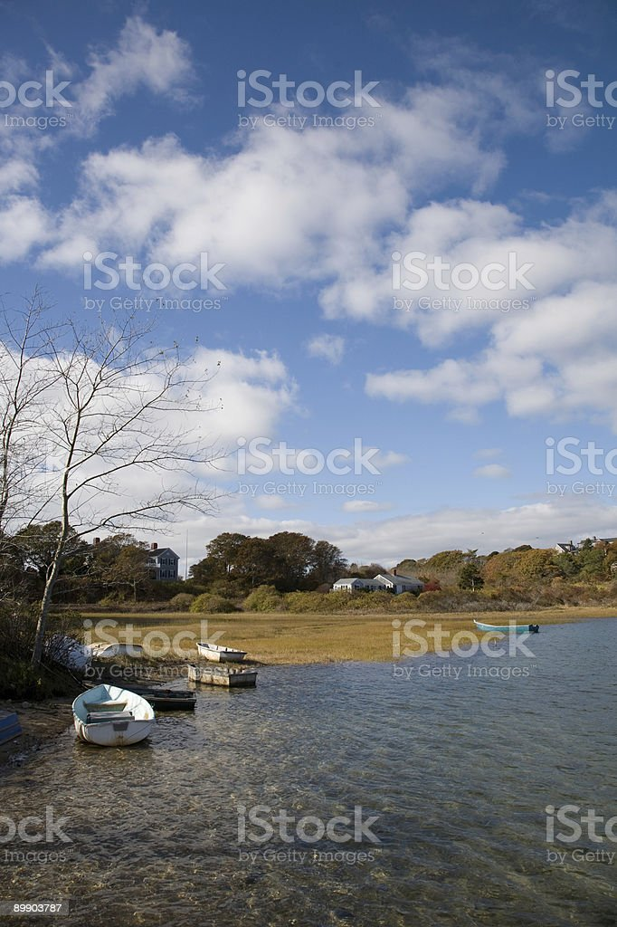 Autumn lake scene royalty-free stock photo