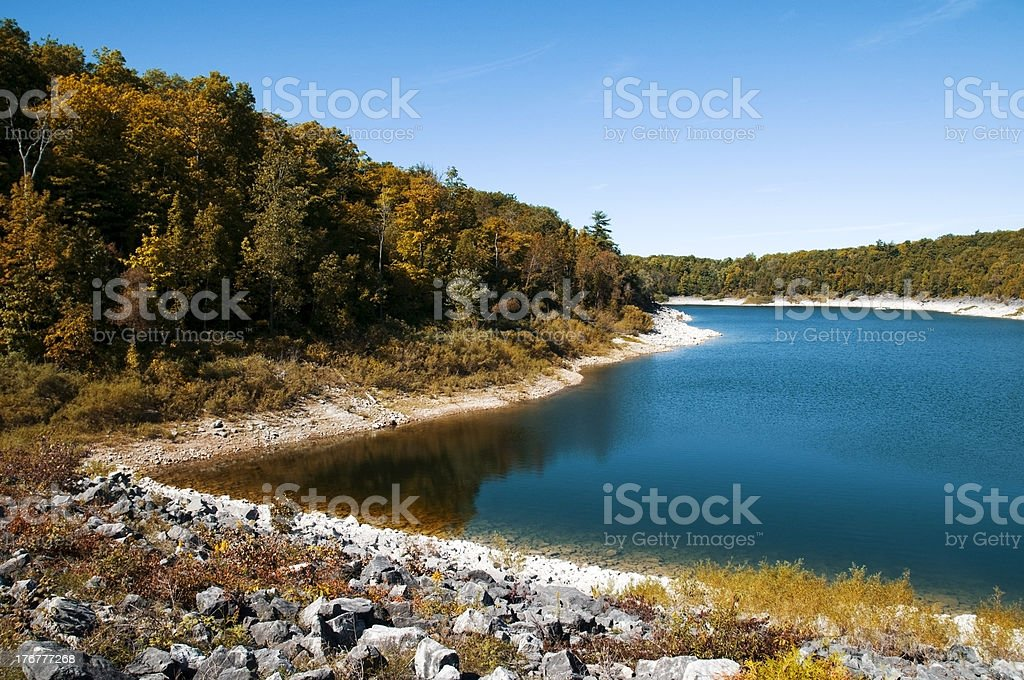 Autumn Lakeshore stock photo