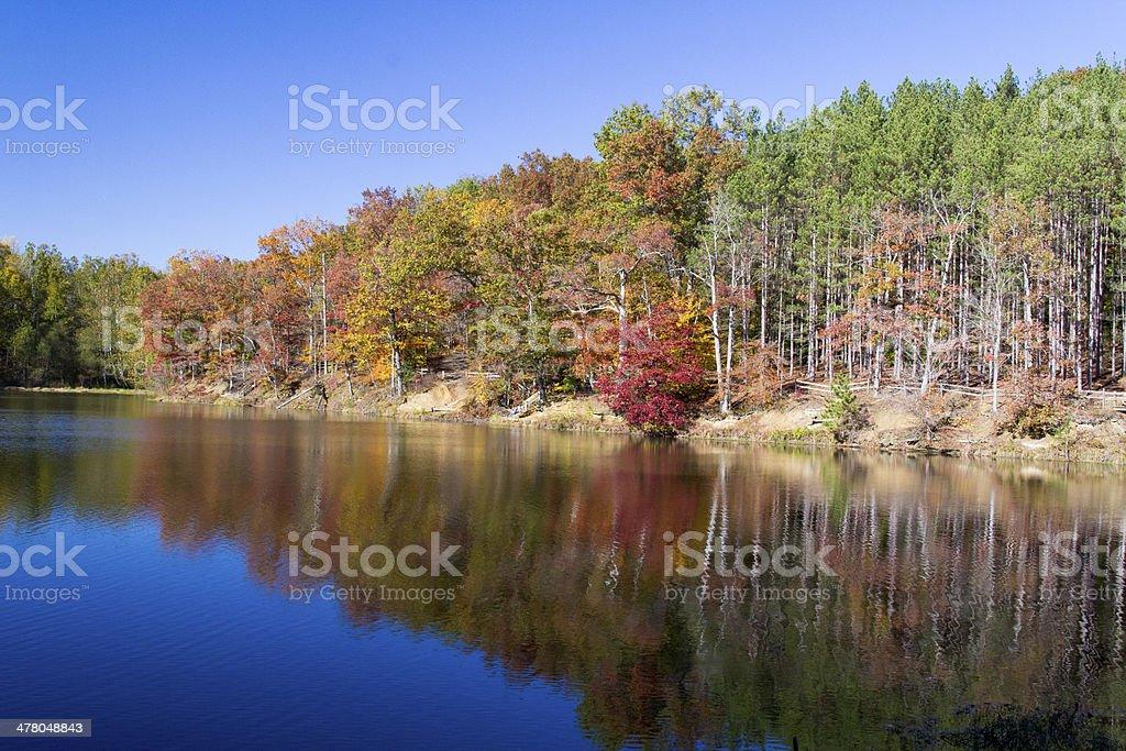Autumn Lakeside stock photo