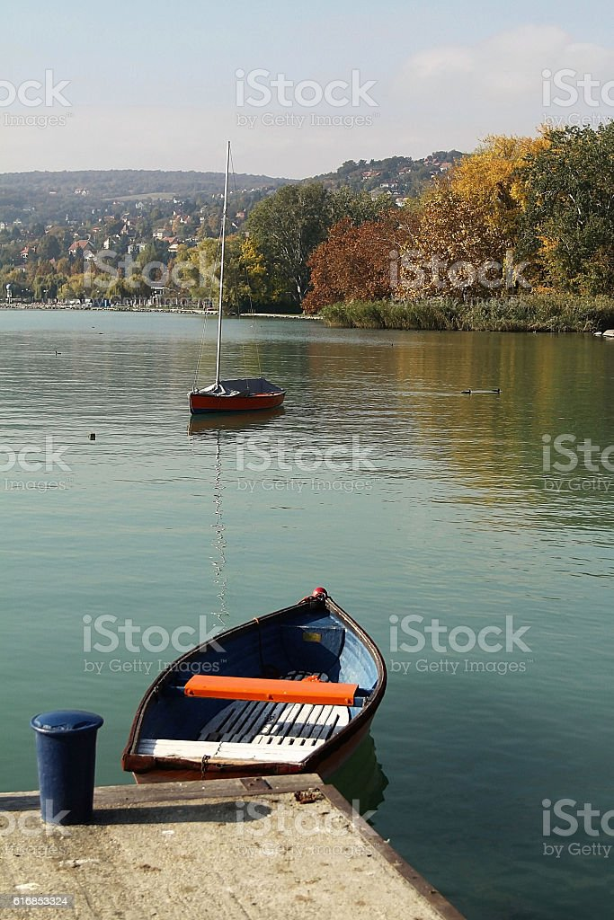 Autumn landscape, Balatonalmadi, Hungary stock photo
