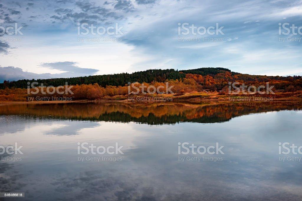 Autumn landscape, Bulgaria stock photo