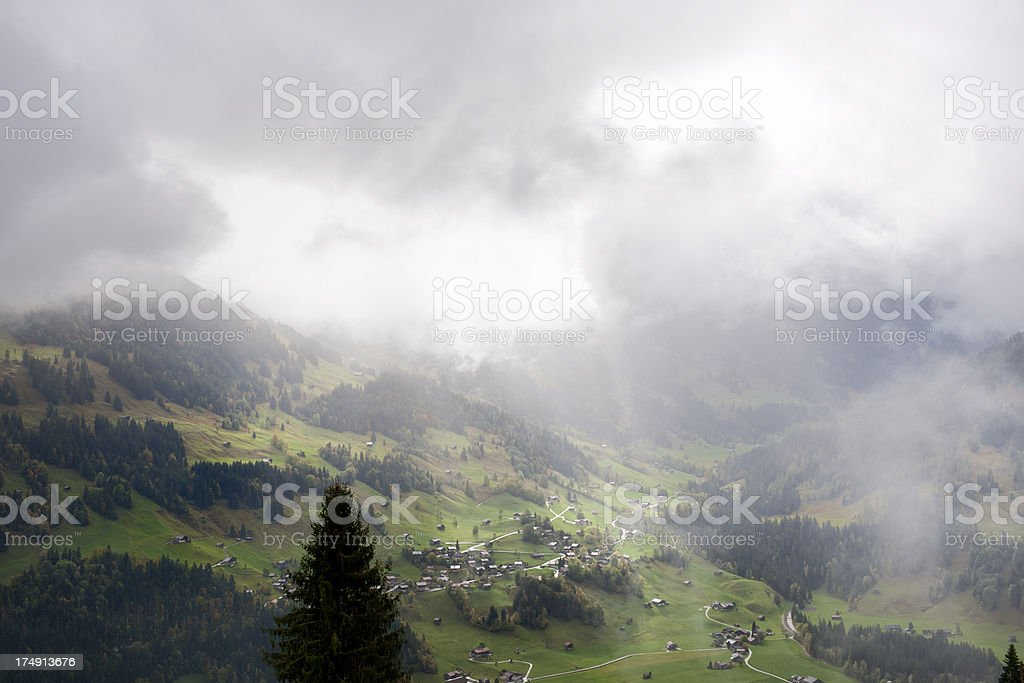 autumn landscape in Bernese Oberland Switzerland royalty-free stock photo