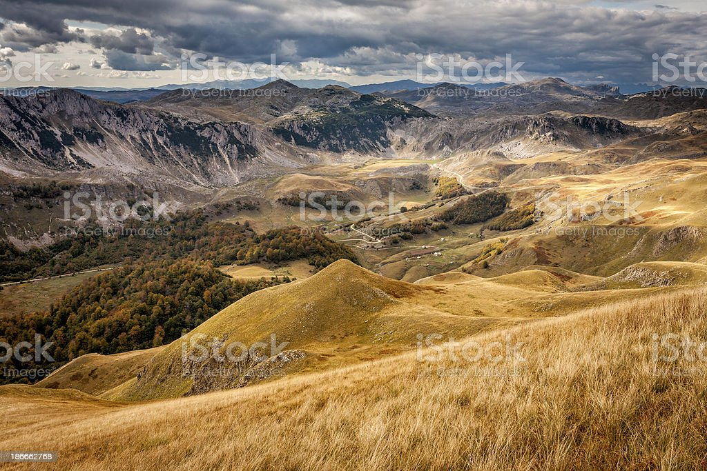 Autumn landscape in the mountain royalty-free stock photo