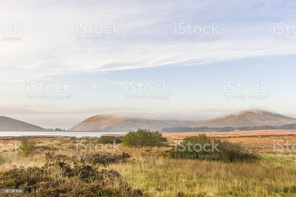 Autumn Landscape in the Mourne Mountains stock photo