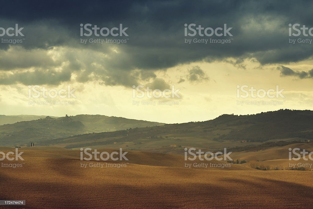 Autumn landscape in Tuscany royalty-free stock photo