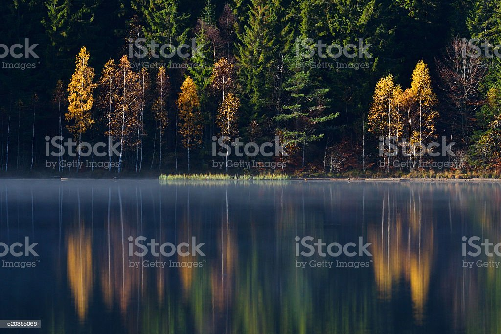 Autumn Landscape. Mountains in Autumn. stock photo
