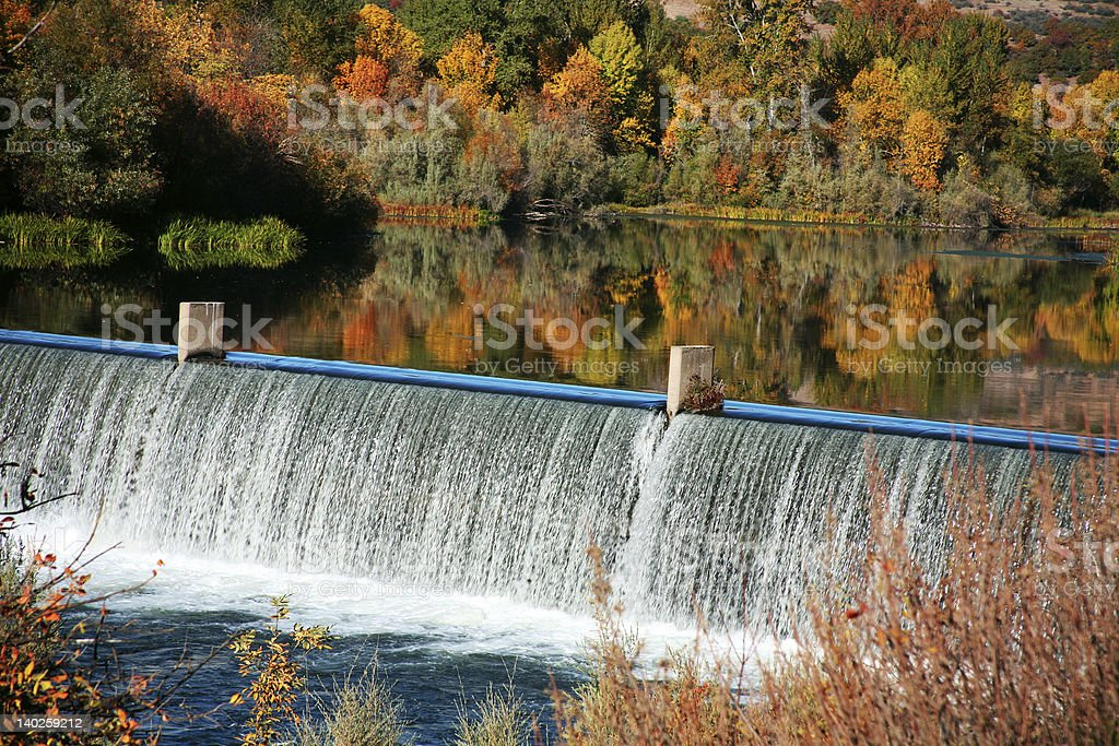 Autumn Landscape Refelctions stock photo