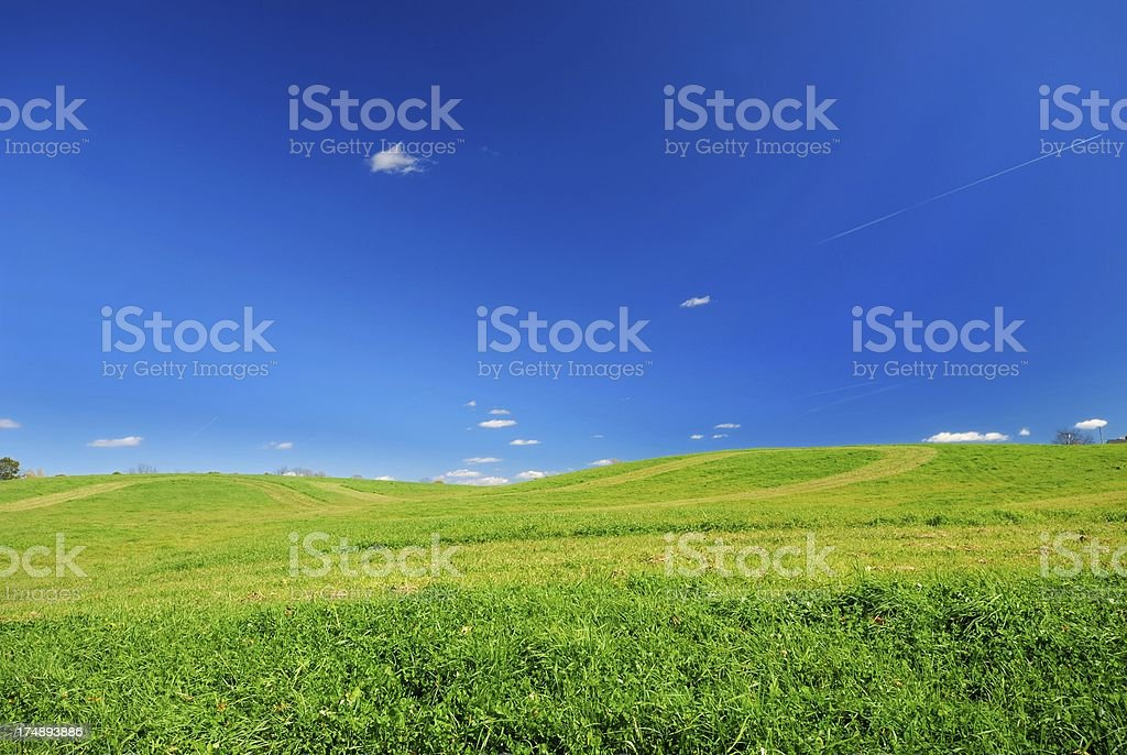 autumn landscape wide royalty-free stock photo