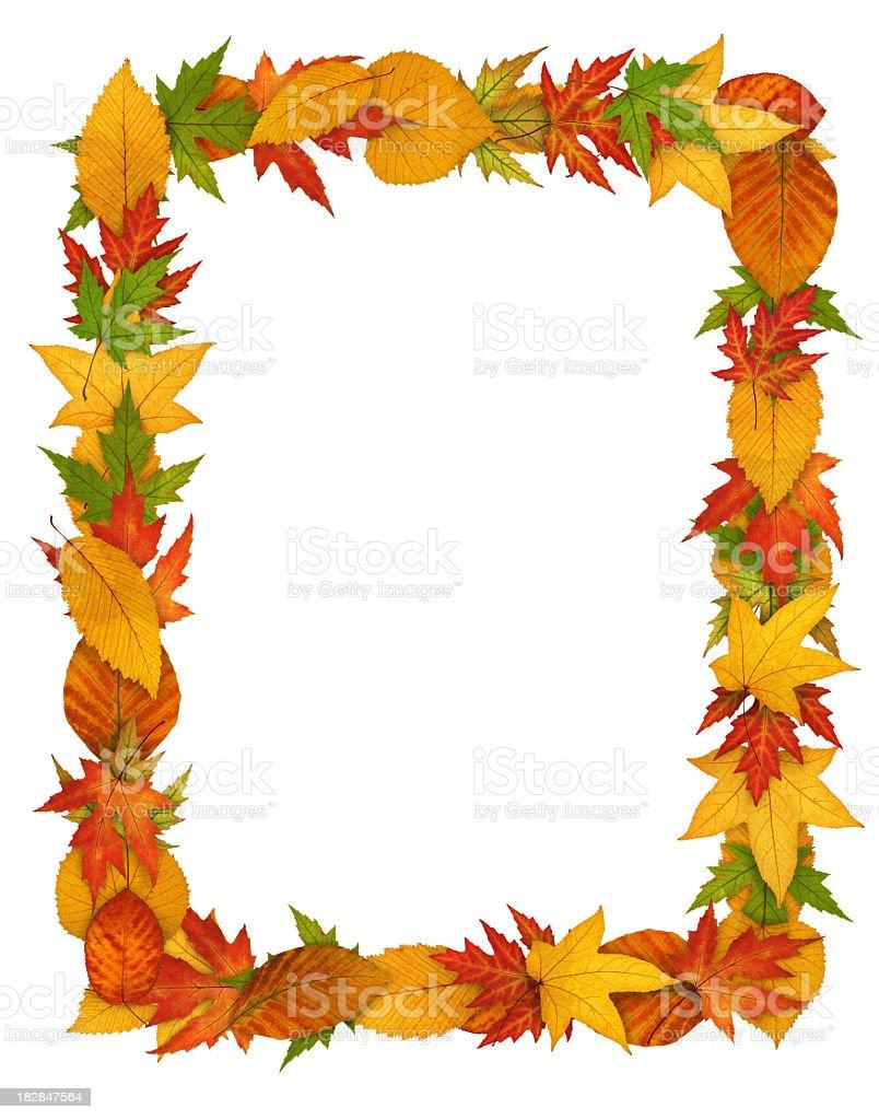 Autumn Leaf Frame royalty-free stock photo