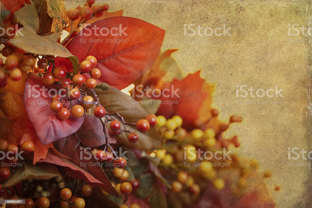 Autumn Leaf Still Life with Textures royalty-free stock photo