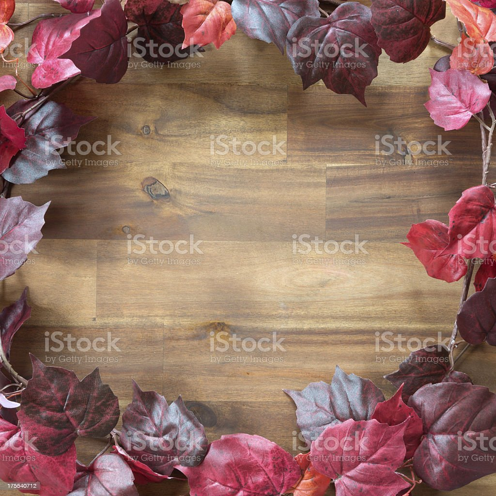 Autumn Leaves Background with Copy Space (XXXL) royalty-free stock photo
