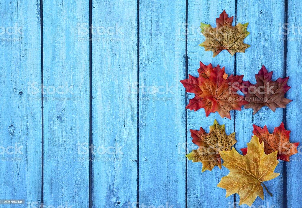 Autumn Leaves Thanksgiving Background stock photo