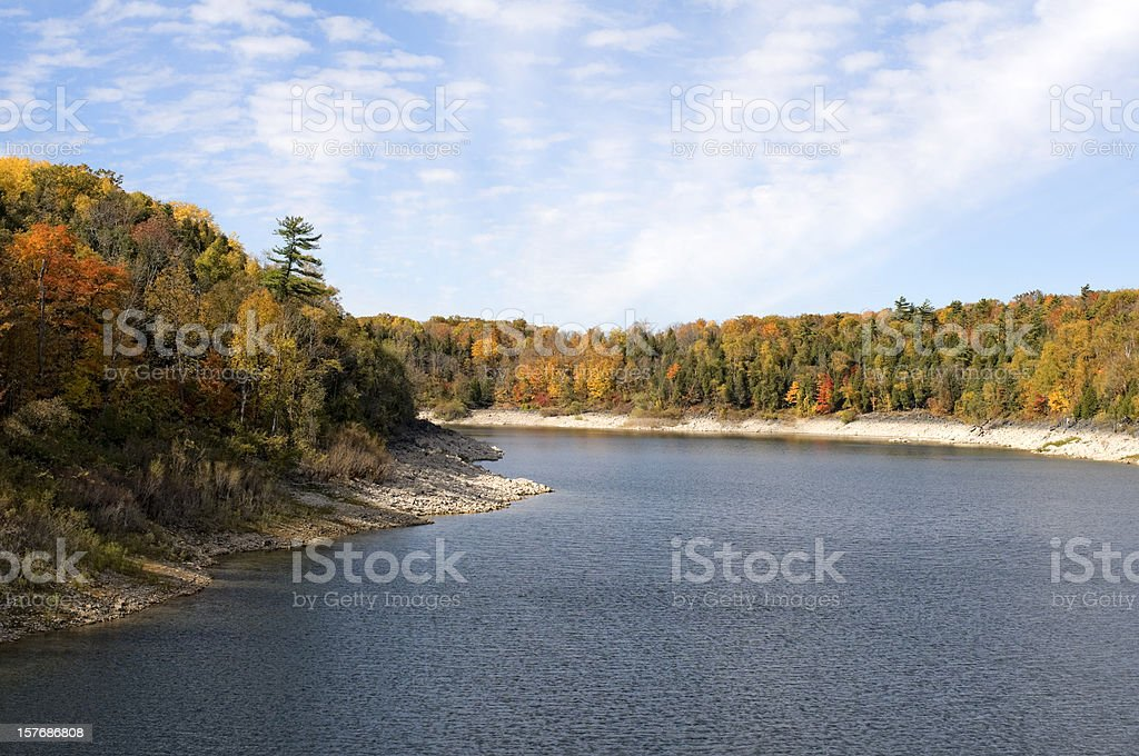 Autumn Leaves, Wilderness Lake stock photo
