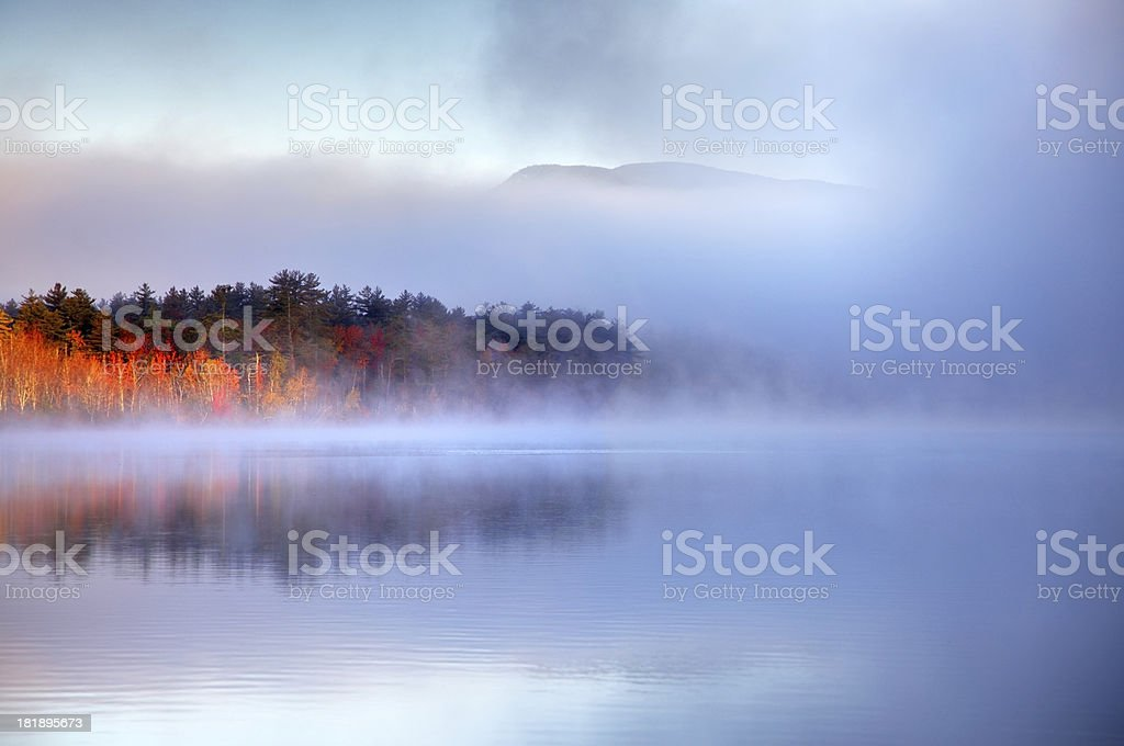 Autumn Light in the White Mountains of New Hampshire royalty-free stock photo