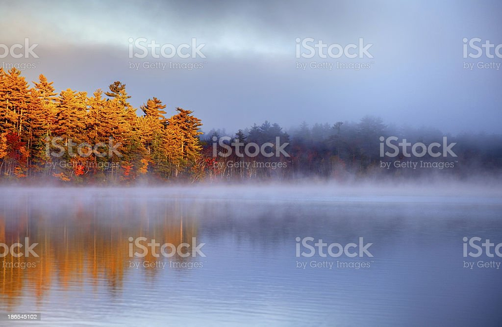 Autumn Light in the White Mountains of New Hampshire stock photo